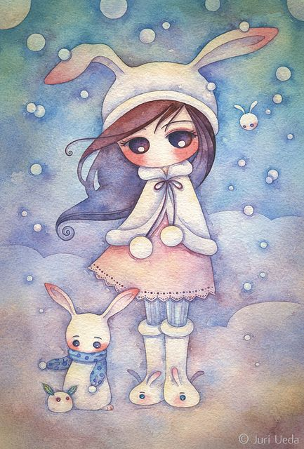 snow bunnies by Juri Ueda